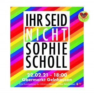 Flyer Demo - Ihr seid nicht Sophie Scholl.