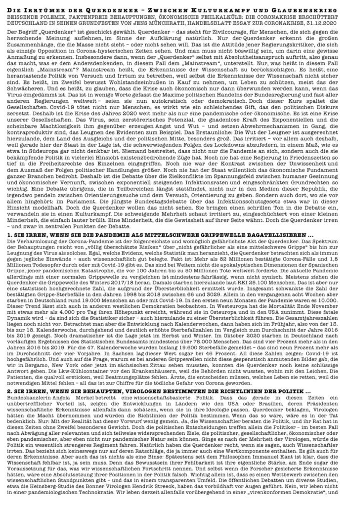 Flugblatt Demo