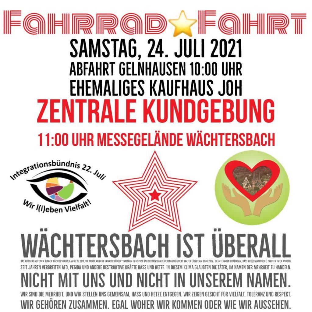 Wächtersbach ist überall - Plakat Sternfahrt